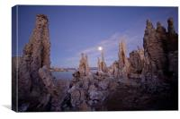 Full moon at Mono Lake, Canvas Print