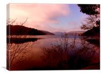 Lake Vyrnwy At Sunset, Canvas Print