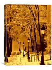 Montmartre Romance, Canvas Print