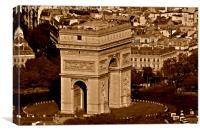 Arc de Triomphe , Canvas Print