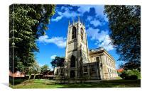 All Saints Church In Gainsborough, Canvas Print