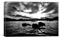 Dramatic skies at Loch Leven, Canvas Print