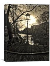 Amsterdam Sunset, Canvas Print