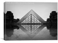 Louvre in the rain., Canvas Print