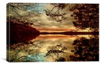 Sunset at Loch Leven, Canvas Print
