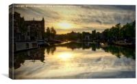 Sunset in Amsterdam, Canvas Print
