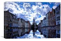 Brugge Skyline, Canvas Print