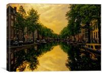 Tranquil Amsterdam, Canvas Print