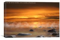 Cabrillo Beach at sunset, Canvas Print