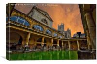 Roman Baths, Canvas Print
