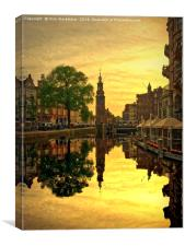 Amsterdam Sunset, Canvas Print