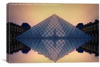 Louvre at sunset., Canvas Print