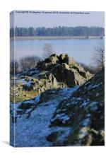 Rocks over Cropston Reservoir, Canvas Print