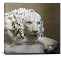 Chatsworth Lion, Canvas Print
