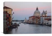 Sunset over Venice Cathedral., Canvas Print