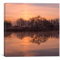 Barcombe Mills at dawn, Canvas Print