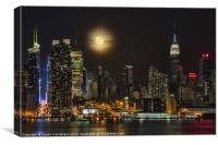 Super Moon Over NYC, Canvas Print