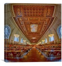 Rose Main Reading Room At The NYPL, Canvas Print