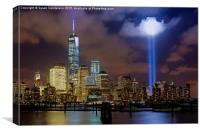 WTC Tribute In Lights NYC, Canvas Print