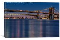 Brooklyn Manhattan and Williamsburg Bridges NYC, Canvas Print