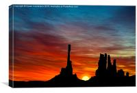 A New Day At The Totem Poles, Canvas Print