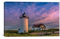 Race Point Lighthouse Sunset, Canvas Print
