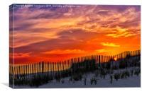 First Light At Cape Cod Beach , Canvas Print