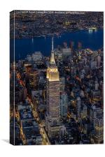 Empire State Building Aerial View, Canvas Print