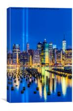 Manhattan NYC 911 Tribute, Canvas Print