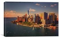 Lower Manhattan Aerial View, Canvas Print