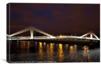 River Clyde Squiggly Bridge, Canvas Print