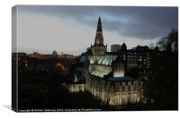 Glasgow Cathedral by night, Canvas Print