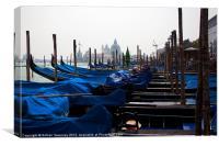 Venice Gondolas, Canvas Print