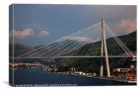 Franjo Tudman Bridge - Dubrovnik, Canvas Print