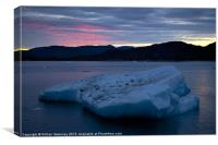 Greenland Frozen Sunset, Canvas Print