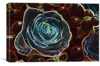 GLOWING ROSE, Canvas Print