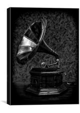 The Old Gramophone, Canvas Print