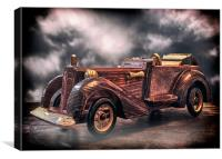 Wooden Car, Canvas Print