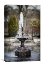 The Water Fountain, Canvas Print
