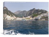 The Town Of Amalfi, Canvas Print