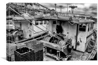 Trawlers in Black and White, Canvas Print