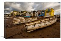 Boats at Teignmouth, Canvas Print