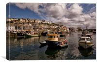 Mevagissey Fishing Harbour in Cornwall, Canvas Print
