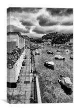 Boats at West Looe, Canvas Print