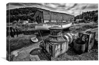 The Boat Yard, Canvas Print