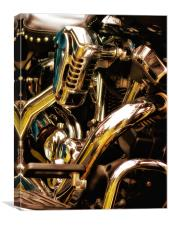 Motorcycle Engine and Chrome, Canvas Print
