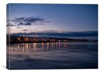 Paignton Seafront at Night, Canvas Print