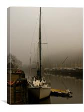 Mystified at Baltic Wharf in Totnes, Canvas Print