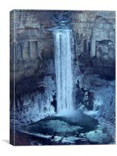 Iced Waterfall, Canvas Print