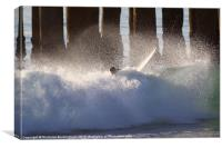 Surfer Wipe Out, Canvas Print